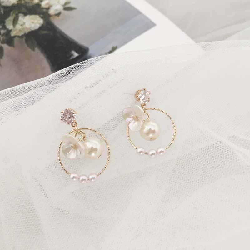 Chrome Flower Earrings 023
