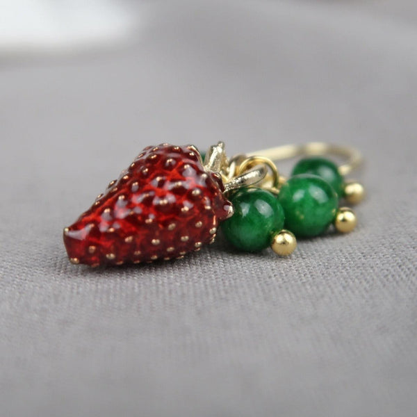 Strawberry Earring 002 - Abbott Atelier