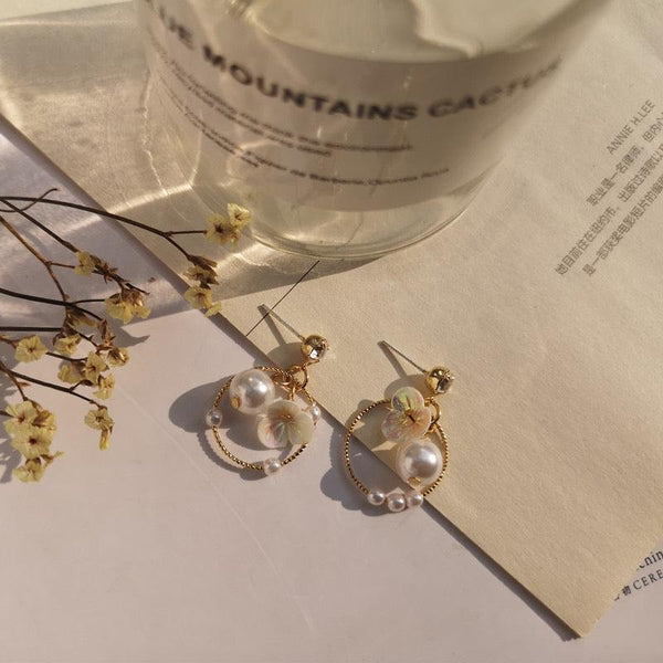 Chrome Flower Earrings 023 - Abbott Atelier