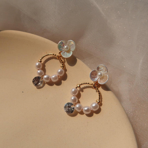 Chrome Flower Earrings 025 - Abbott Atelier