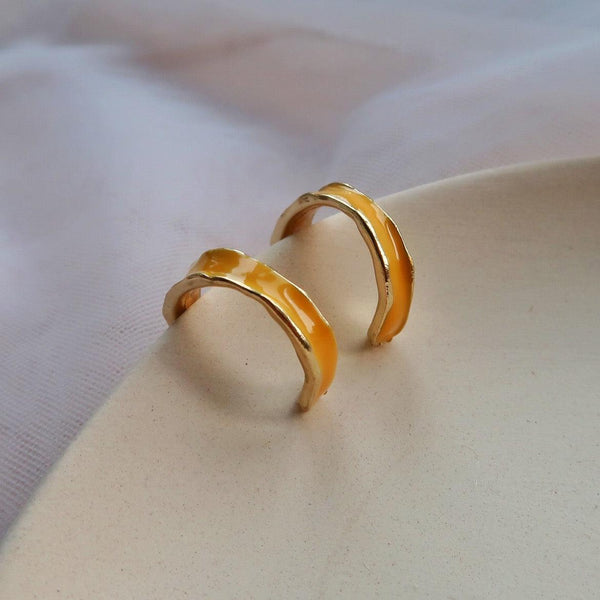 Yellow Hoop Earring 027 - Abbott Atelier