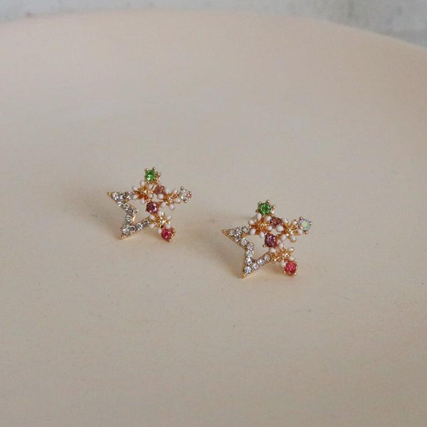 Flower & Star Stud Earrings 047 - Abbott Atelier