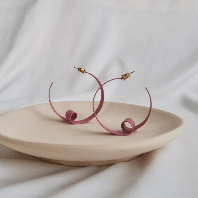 Pink Spiral Earrings 064 - Abbott Atelier