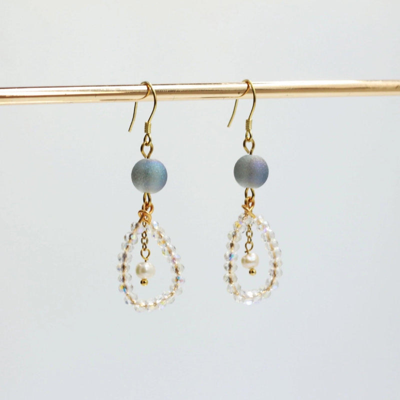 Crystal Teardrop Earrings 073 - Abbott Atelier