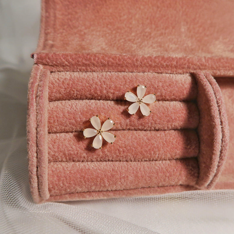 Flower Stud Earrings 087 - Abbott Atelier