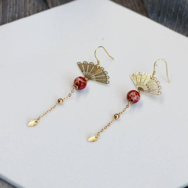 Fan Earrings 090 - Abbott Atelier