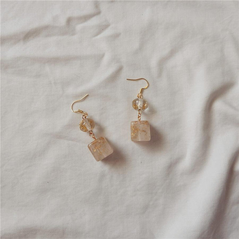 Resin & Gold Foil Earrings 099 - Abbott Atelier
