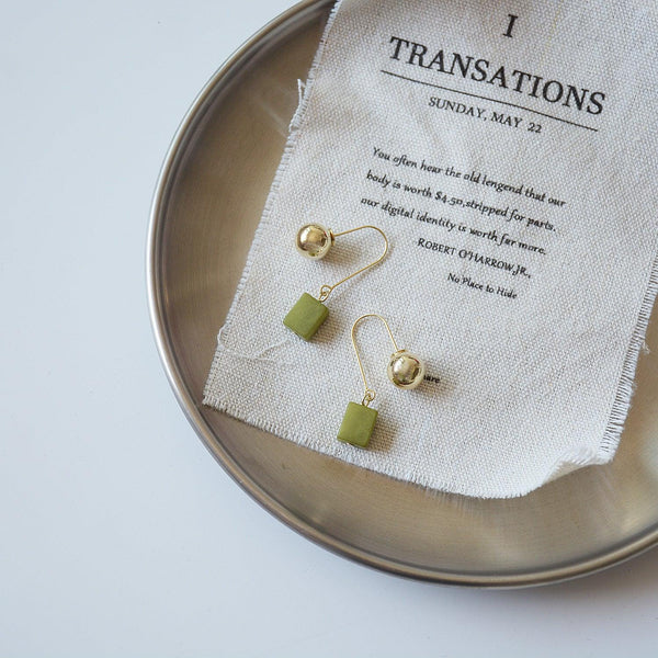 Green Agate Earrings 101 - Abbott Atelier