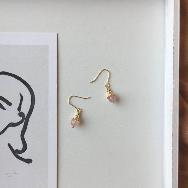 Rose Quartz Earrings 115 - Abbott Atelier