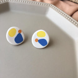 Color Block Stud Earrings 127 - Abbott Atelier