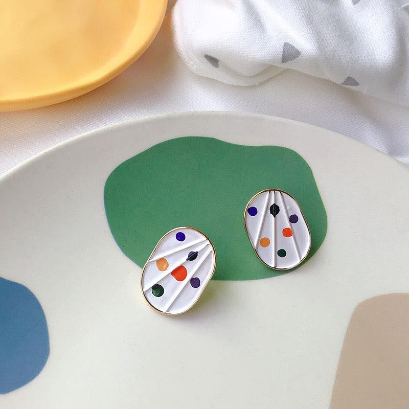 Palette Stud Earrings 128 - Abbott Atelier