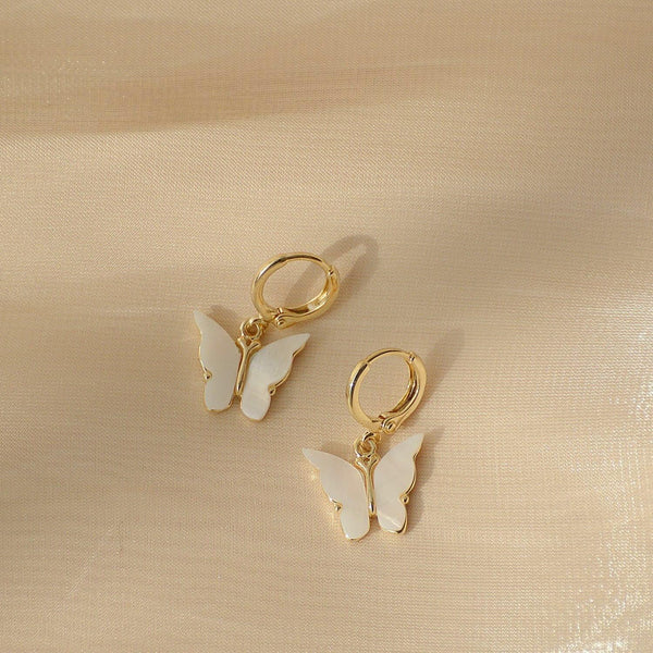 Butterfly Huggie Earrings 132 - Abbott Atelier