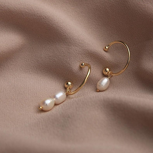 Pearl Asymmetrical Earrings 157 - Abbott Atelier