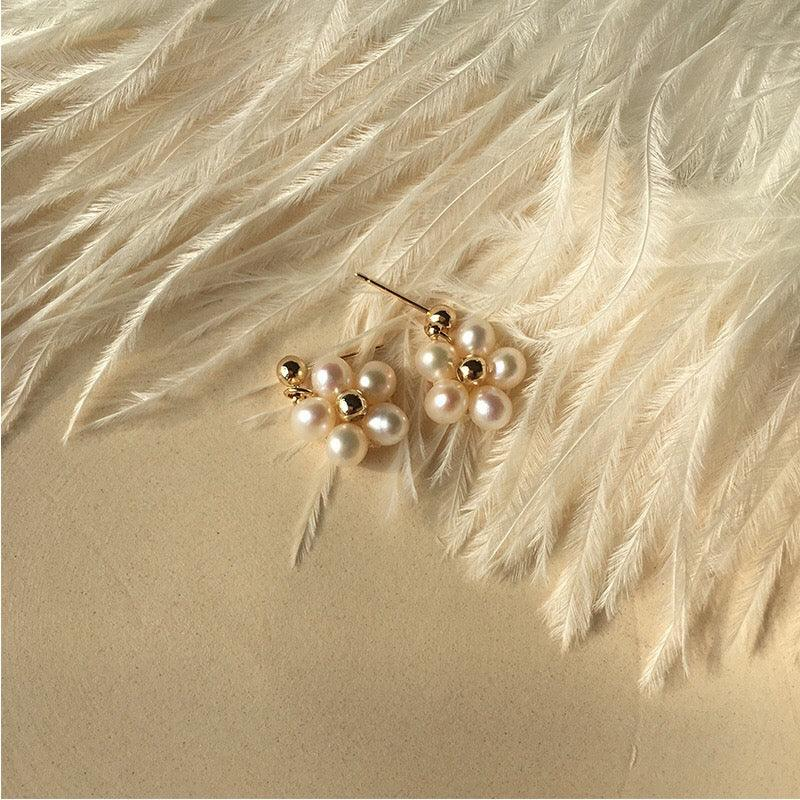 Flower & Pearl Earrings 181 - Abbott Atelier