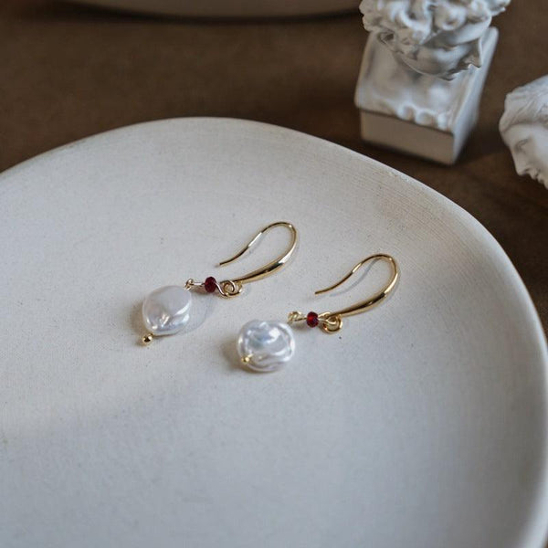 Baroque Pearl Earrings 219 - Abbott Atelier