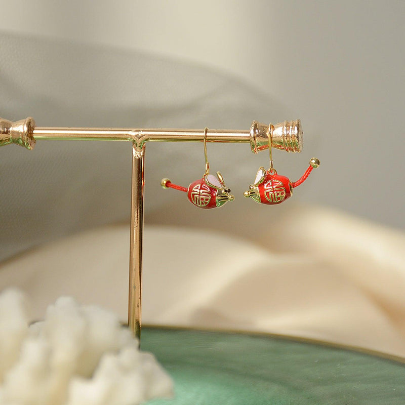 Year of the Mouse Earrings 058 - Abbott Atelier