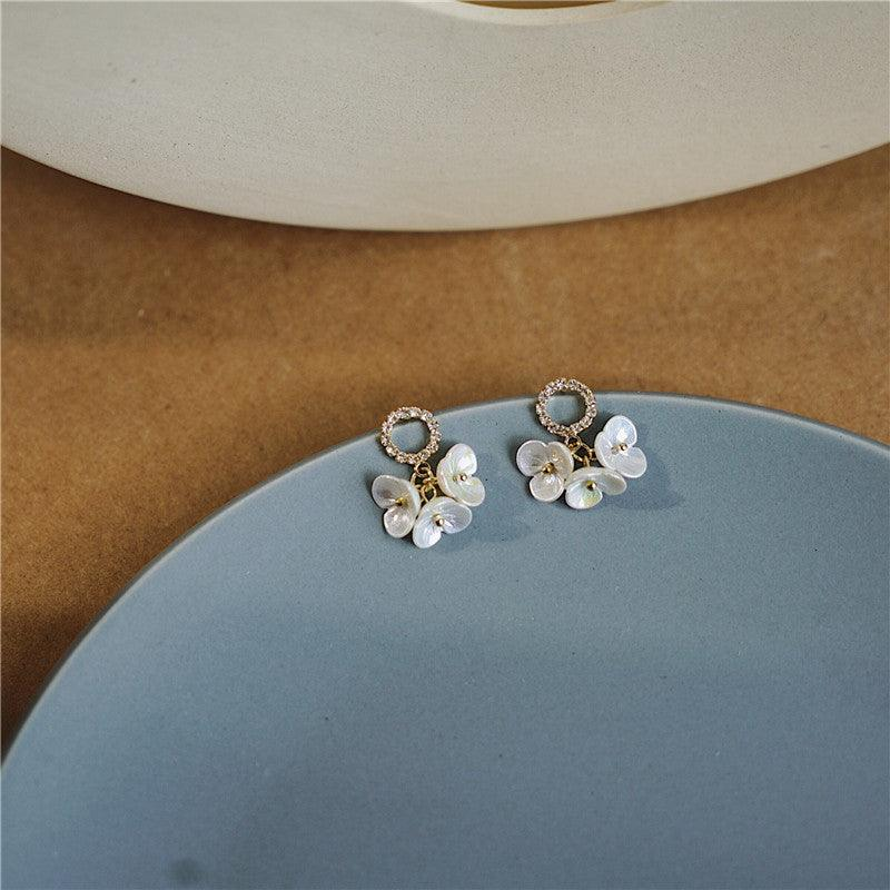 Chrome Flower Earrings 223 - Abbott Atelier