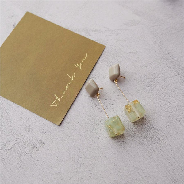 Green Eco-Resin Earrings 224 - Abbott Atelier