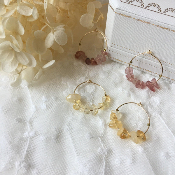 Quartz Hoop Earrings 236 - Abbott Atelier
