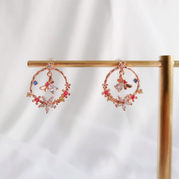 Butterfly & Flower Earrings 239 - Abbott Atelier