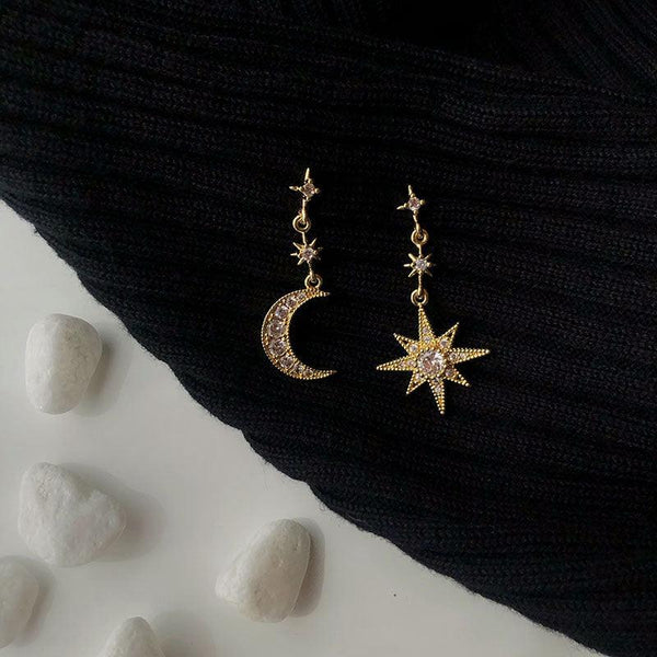 Moon & Star Earrings 256 - Abbott Atelier