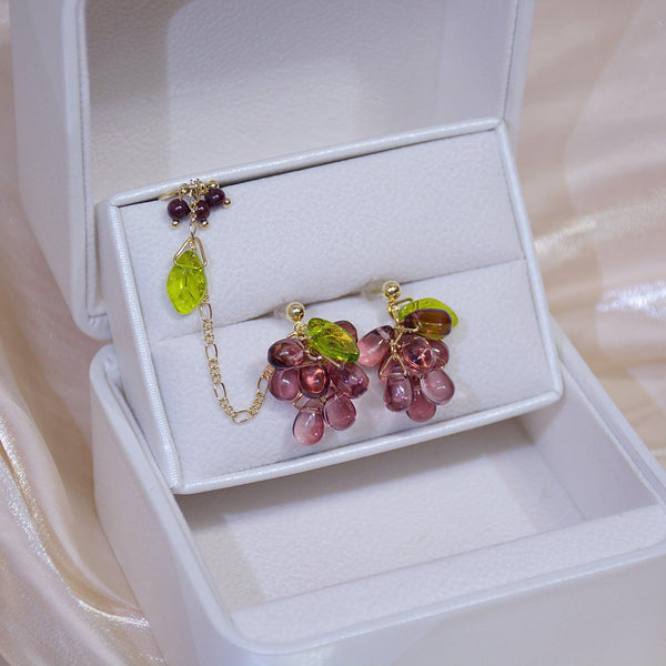 Grape Earrings + Ear Cuff 275 - Abbott Atelier