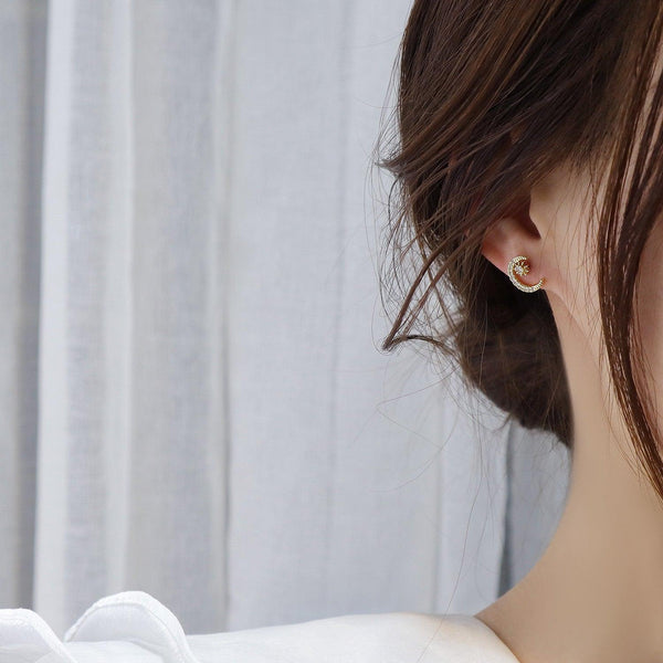 Moon & Star Stud Earrings 292 - Abbott Atelier