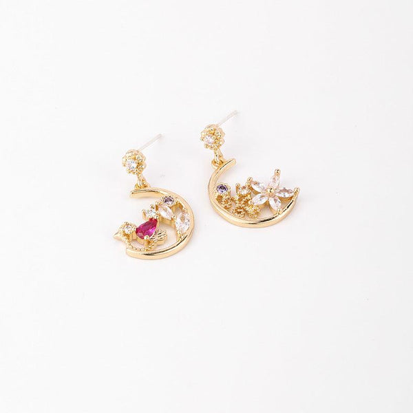 Birdie & Flower Earrings 300 - Abbott Atelier