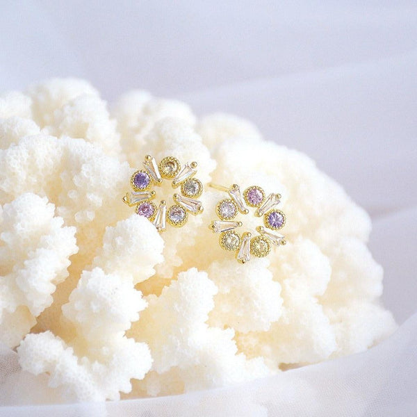 Flower Stud Earrings 317