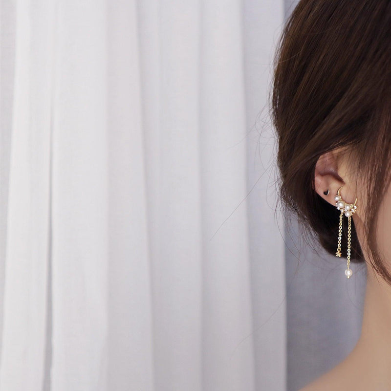 Moon & Star Drop Earrings 336