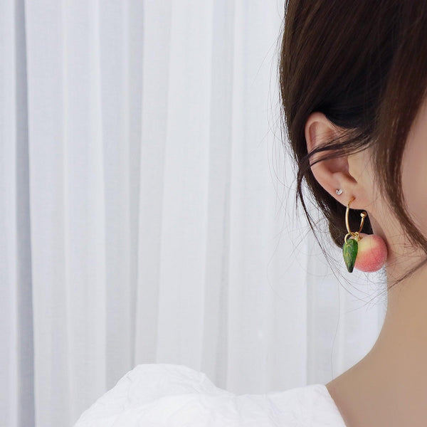 [Sample Sale]Peach Earrings 337