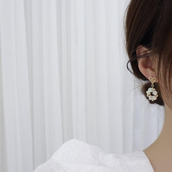 Shell Flower Earrings 344