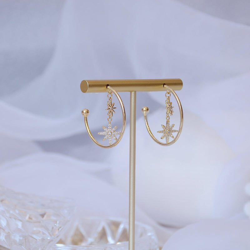 Star Hoop Earrings 346