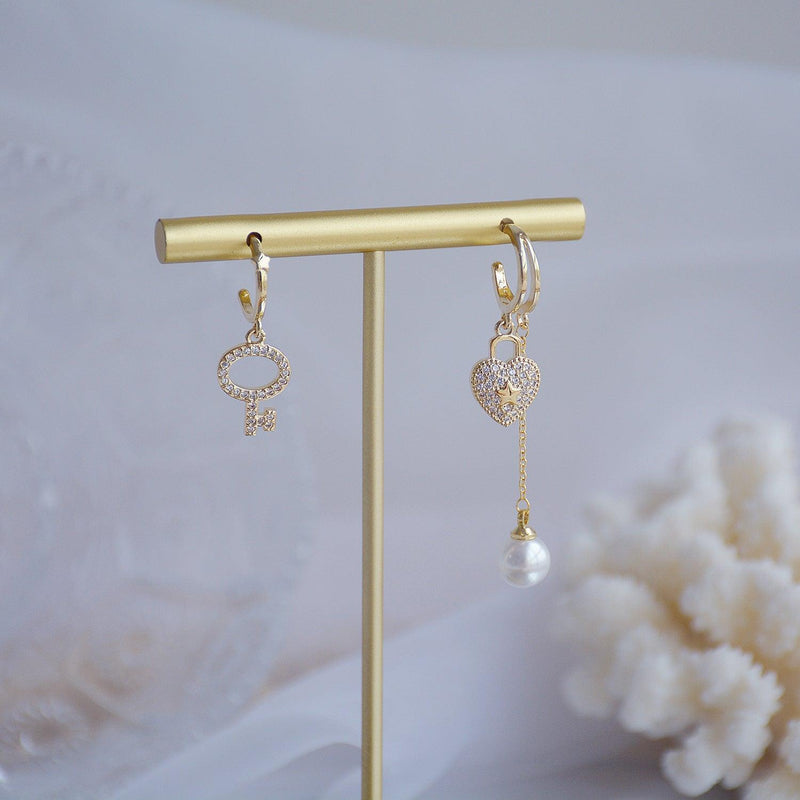 Lock & Key Earrings 366