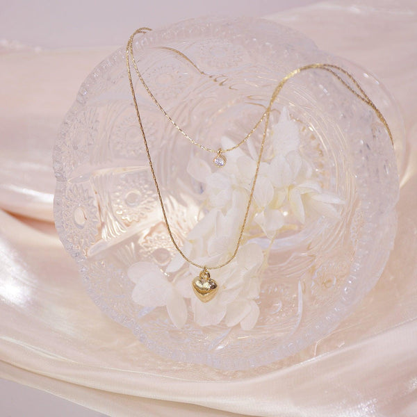 Double-Layer Heart Necklace 028 - Abbott Atelier