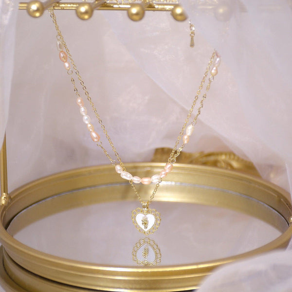 Double-Layer Heart Necklace 030