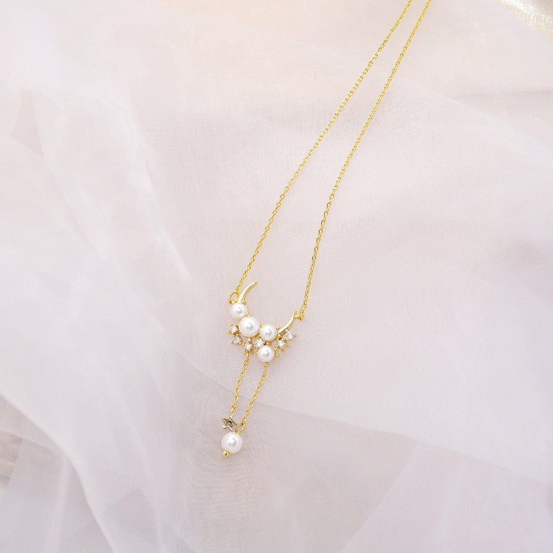 Moon & Star Necklace 036