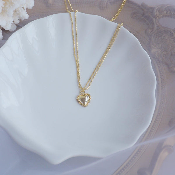 Double-Layer Heart Necklace 040