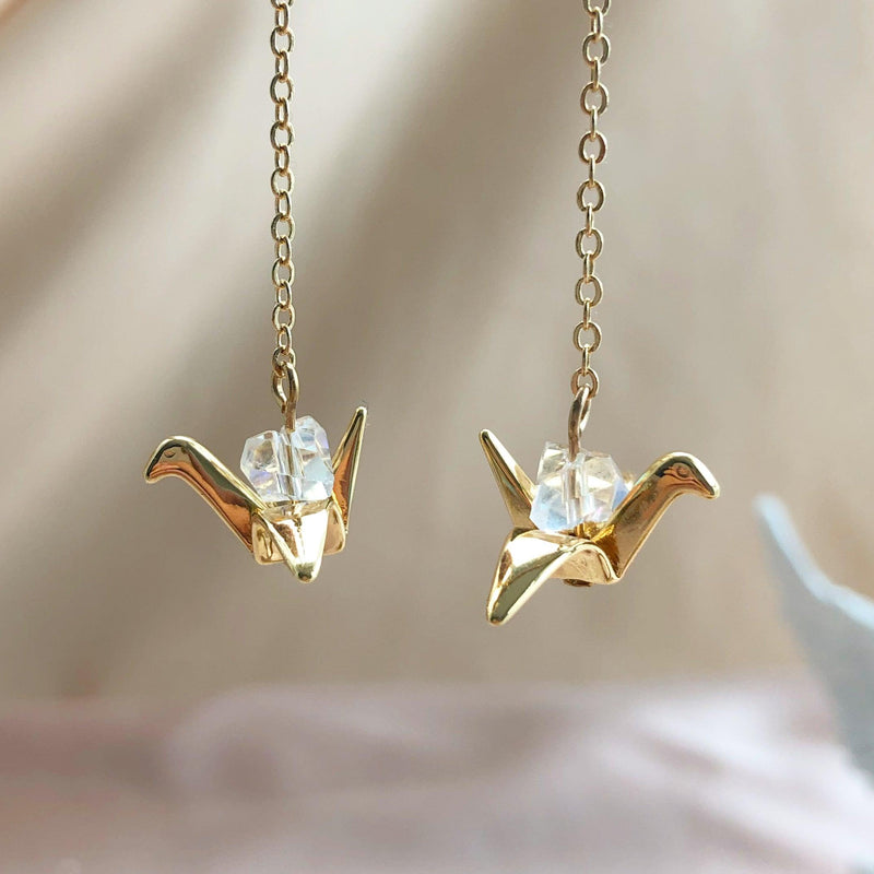 Paper Crane Earrings 164