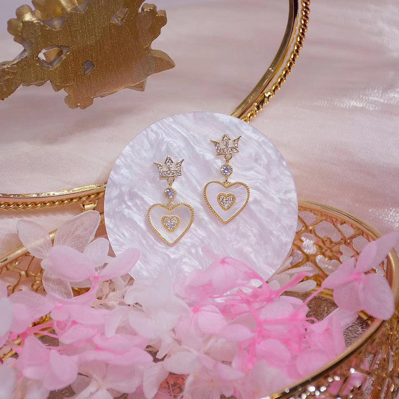 Heart & Crown Earrings 078 - Abbott Atelier