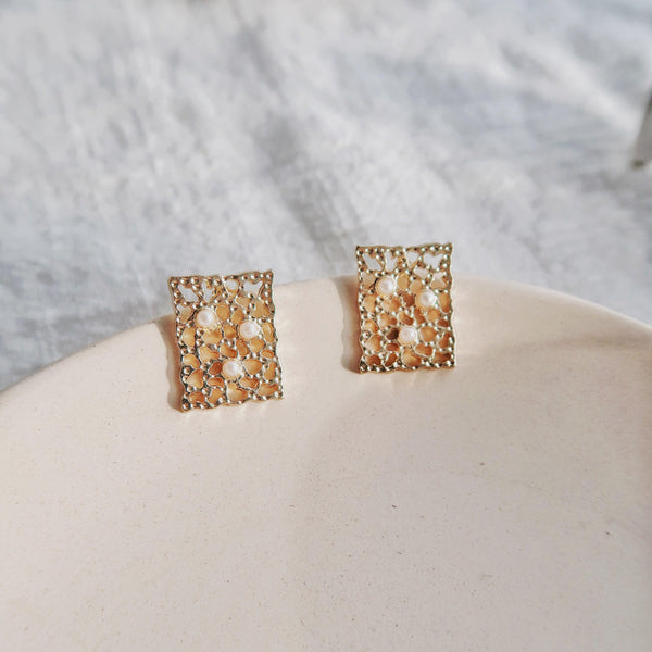 Baroque Stud Earrings 075 - Abbott Atelier