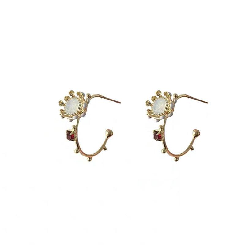 Flower Hoop Earrings 072 - Abbott Atelier
