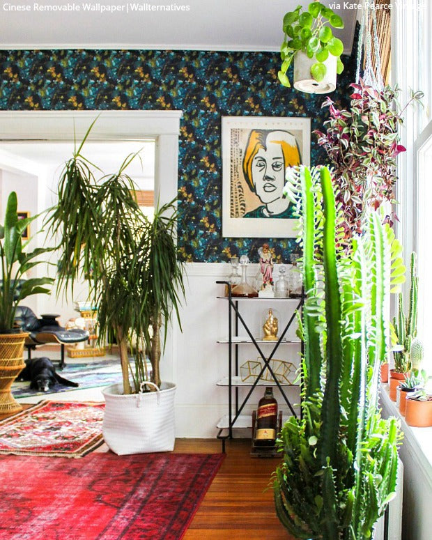 Remove, Reuse, Redecorate with Eco-Friendly Wallpaper from Wallternatives - Removable Wallpaper for Maximalist Interiors - Colorful Boho Chic Wall Art Design