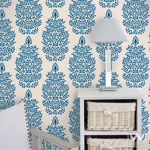 Blue and White Wallpaper - Removable Wallpapers for DIY Decor - Wallternatives.com