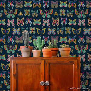 Wingspan Bonnie Christine Removable Wallpaper - Blue