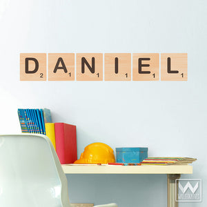 Scrabble Alphabet Letter Tile Removable Wall Decal For Kids