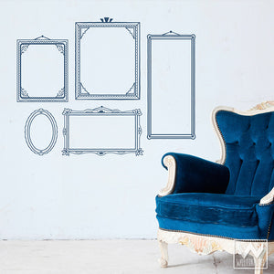 Adhesive and Decorative Art Deco Wall Sticker Frame Vinyl Wall Decals - Walternatives