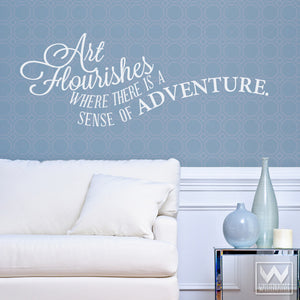 Art and Adventure Wall Art Quotes to Peel and Stick - Art Flourishes Vinyl Wall Decals - Wallternatives