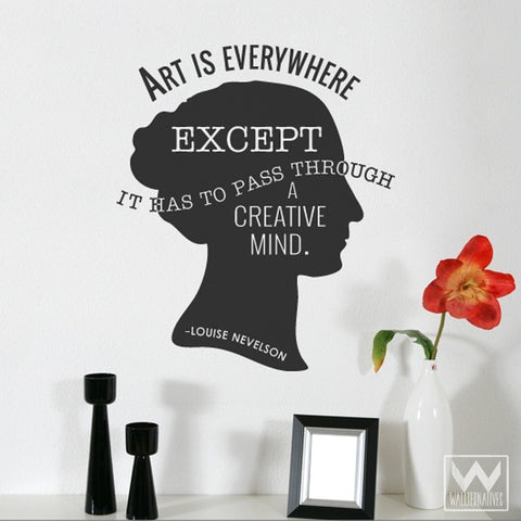 Art Is Everywhere Quote Saying Home Vinyl Wall Decal