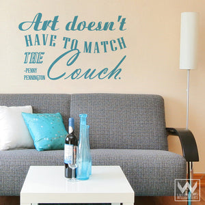 DIY Wall Decor and Easy Decorating - Art Quote Vinyl Wall Decals - Wallternatives